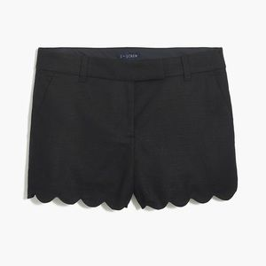 JCrew Black Scalloped Shorts